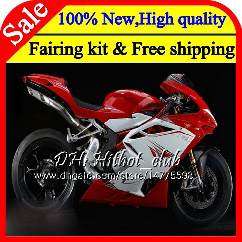 Body For MV Agusta F4 05 06 R312 750S 1000 R 750 1000CC Red white 13HT9 1000R 312 1078 1+1 MA MV F4 2005 2006 05 06 Red Fairing Bodywork