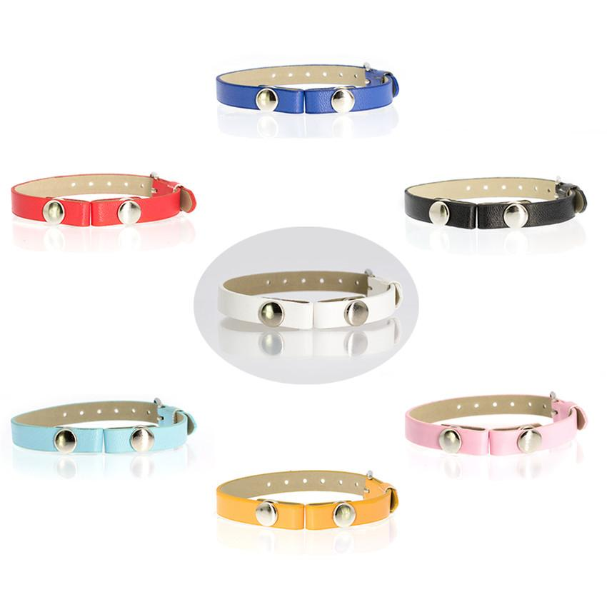 7 Colors PU Leather Band 8mm Wide 21.5mm Length Wristband Fit For Perfume Aroma Diffuser Locket Bracelet &Floating Locket
