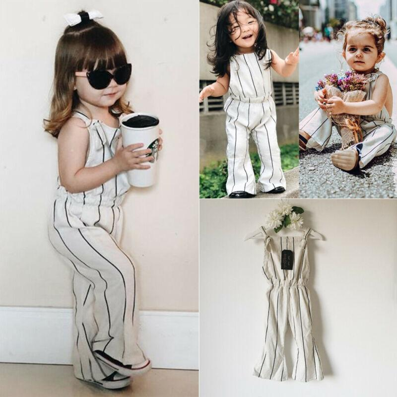 Summer Toddler Kids Baby Girls Clothes Jumpsuit Playsuit One-Pieces Outfits