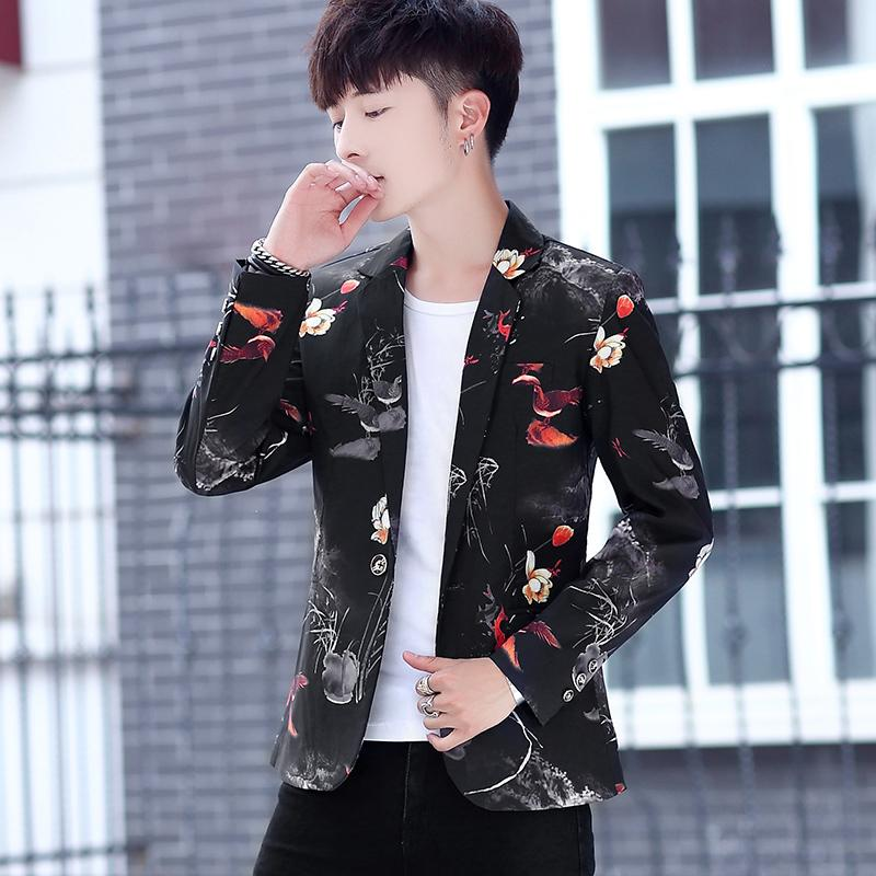 b5c8badd634b 2019 Suit 2018 Autumn Korean Casual Clothes Single Western Self Cultivation  Man Joker Jacket Fashion Chinese Style From Topcoat, $58.45 | DHgate.Com