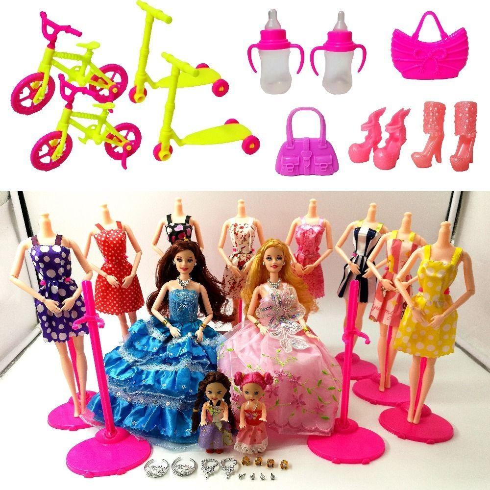Muñecas Y Accesorios 10 Pack Barbie Doll Clothes Ropa