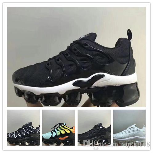 buy popular c94e4 fc16a 2019 luxury designer Plus VM Boy girl youth Black White Kids Shoes Sneakers  Pack Triple Children s Boy Girls Air Ultra TN Running Shoes