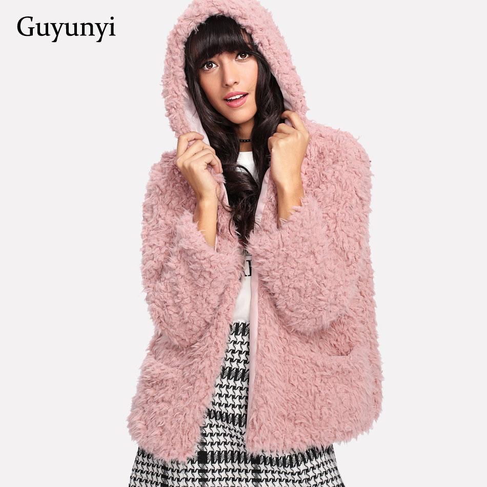 7e3deafb25b 2019 Vintage Fluffy Hoodie Faux Fur Coat Women Winter Pink Jacket Coat  Female Plus Size Warm Casual Outerwear Overcoat From Smotthwatch