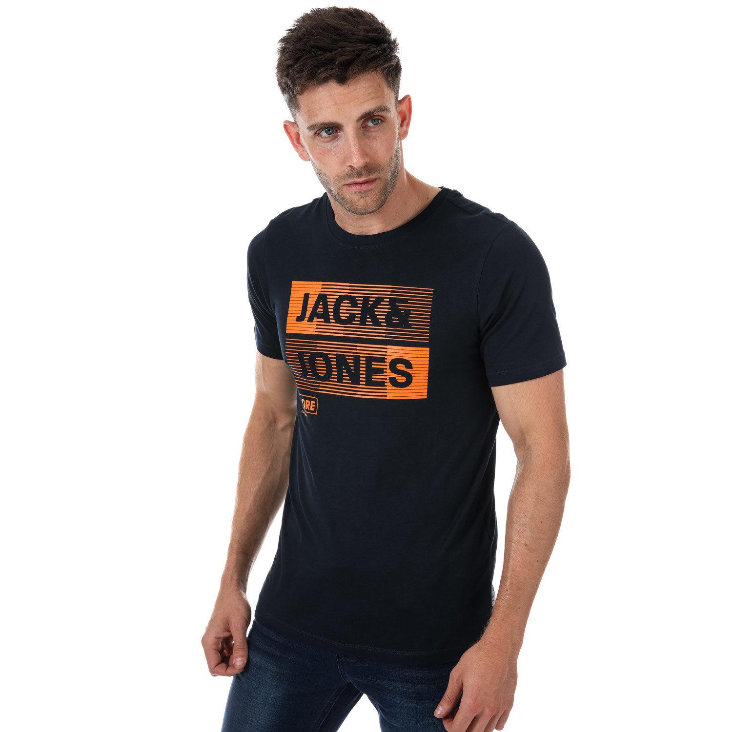 huge discount 22e96 7ab2c High Quality Custom Printed Tops Mens Jack Jones Mase T-Shirt In Navy  summer Hot Sale New Tee Print Men T-Shirt Top