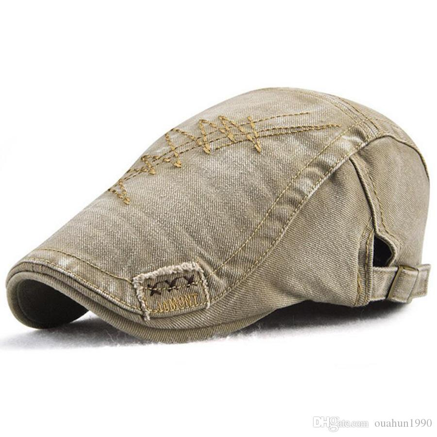 2e044667e35 2019 Cotton Flat Cap Ivy Gatsby Newsboy Hat Unisex Duckbill Golf Cabbie  Driving Hunting Men Women Snap Vintage Beret Cowboy Denim Fashion 13255  From ...