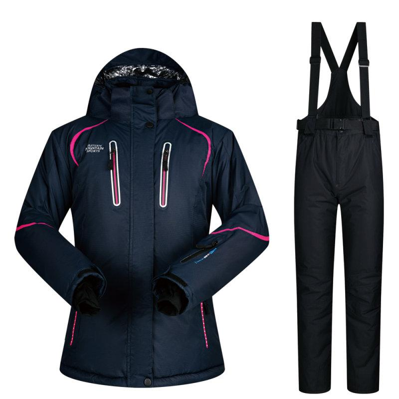 f041ef8e48 Women Ski Suit Winter Ski Jacket And Pants High-quality Windproof ...