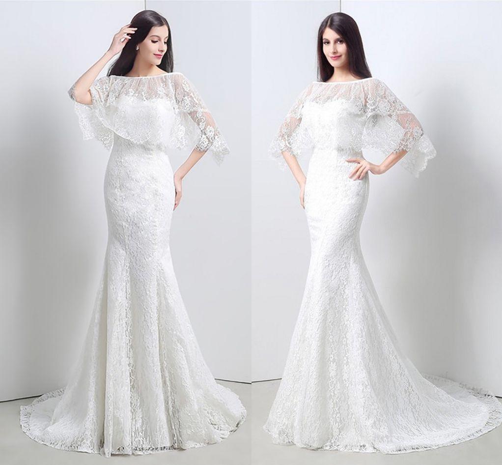 e9a13345b8 Compre Elegantes Vestidos De Novia De Color Blanco Cariño Con Envoltura De  Encaje De Sirena Boda Largo Vestidos De Novia Para Mujeres Vestidos De  Novia A ...