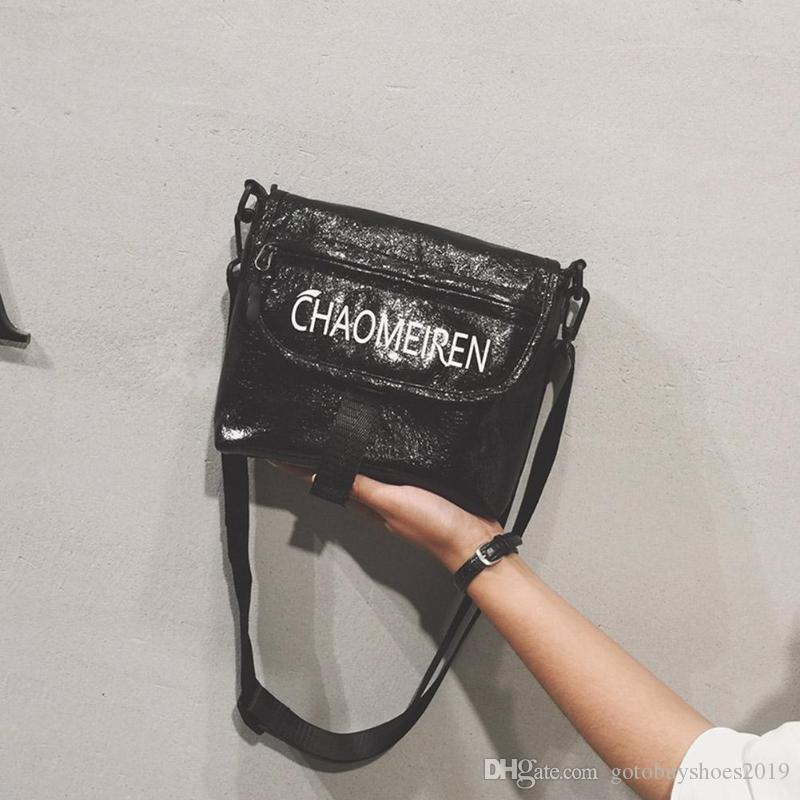 aa649aac2aa1 2019 Cracked Women Shoulder Bag Dazzling Sparking Glitter PU Leather  Crossbody Bag for Girls Shiny Gold Silver Laser Zipper #210630