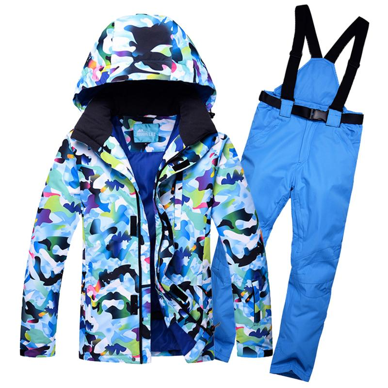 9447eb9164 2019 Hooded Mens Ski Suit Camo Snow Jacket Winter Outerwear Waterproof Male Skiing  Snowboarding Clothes Sets For Men Thermal C18112301 From Shen8402