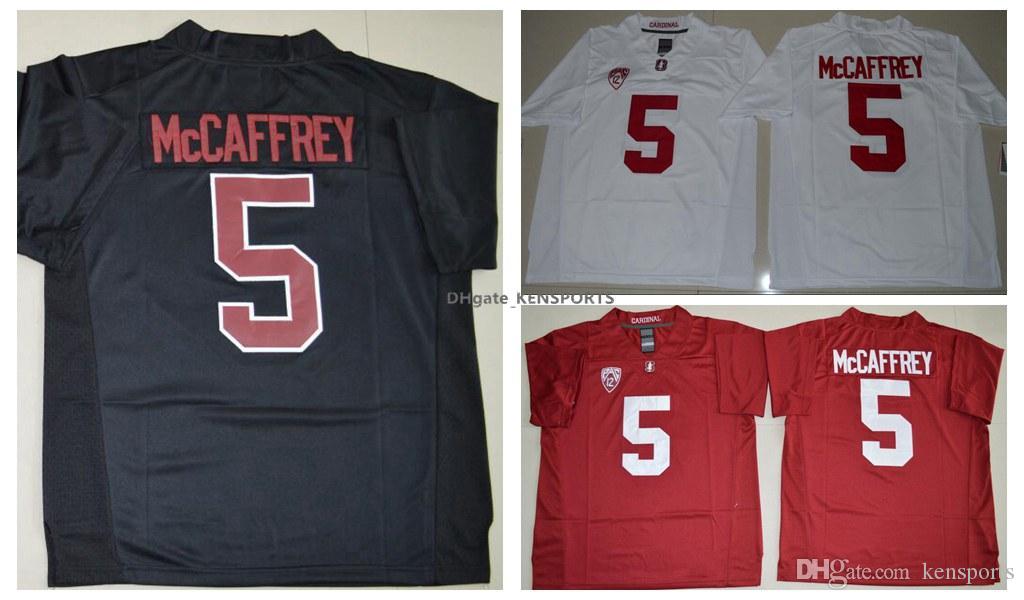 ce5ab8c1 Men'S 5 Christian McCaffrey Men Jersey High Red Black Stitched College Football  Jerseys Size S XXXL 2016 New Season Stanford Cardinal Jersey UK 2019 From  ...