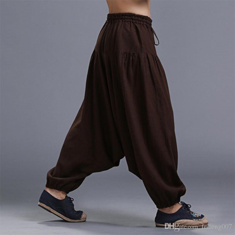 Plus Size Solid Color Casual Loose Harem Pants Yoga Pants Men Women Trousers Yoga Loose Modal Bloomers Tai Chi #638279