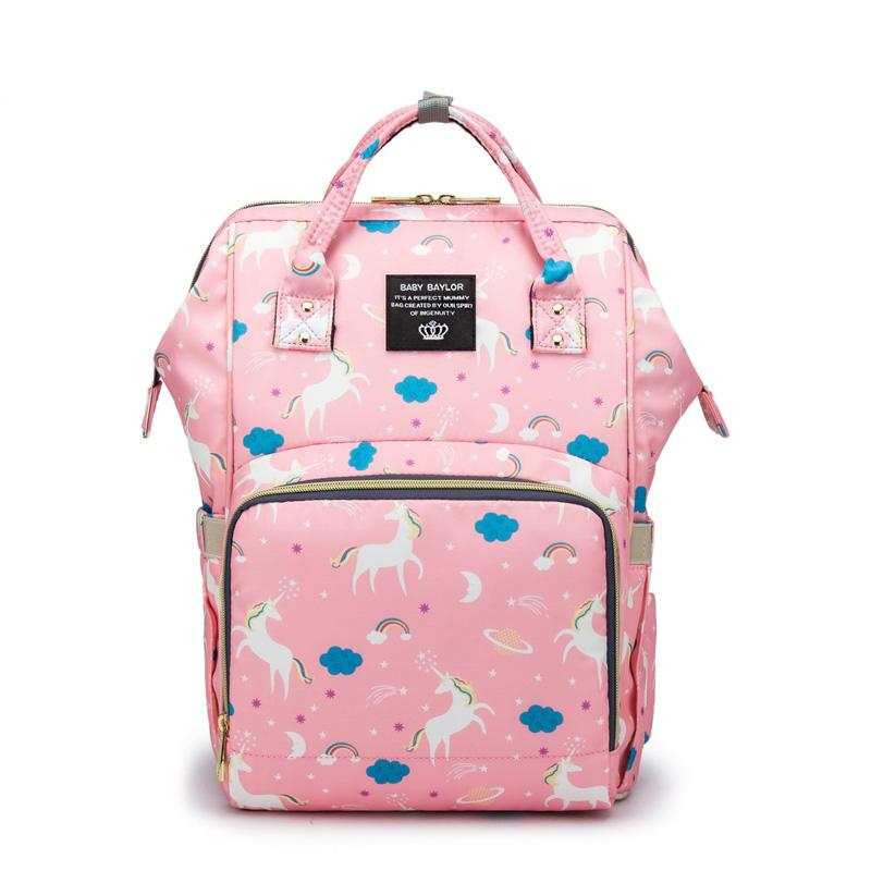 Casual Baby Maternity Diaper Bag Mummy Baby Backpack Large Capacity Travel Backpack Women Maternal Nursing Bag For Baby Care Women's Bags