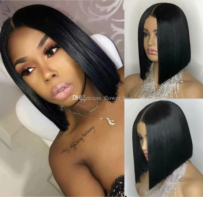 Silk Base Full Lace Wigs BOB Short Silk Top Lace Front Wigs Unprocessed Virgin Brazilian Human Hair Natural Hairline For Black Women