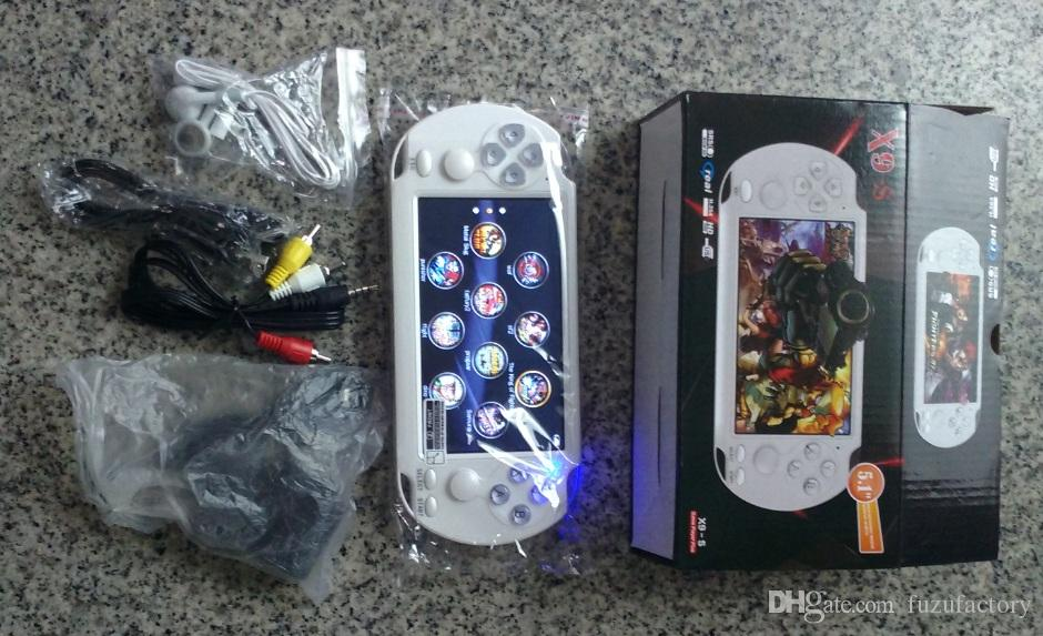 NOVO PMP X9S Handheld Video Game Console 5.1inch Tela Quad Core 8GB PSP players portáteis game Prova câmera de TV Out MP5 MP4 MP3 WMA WAV