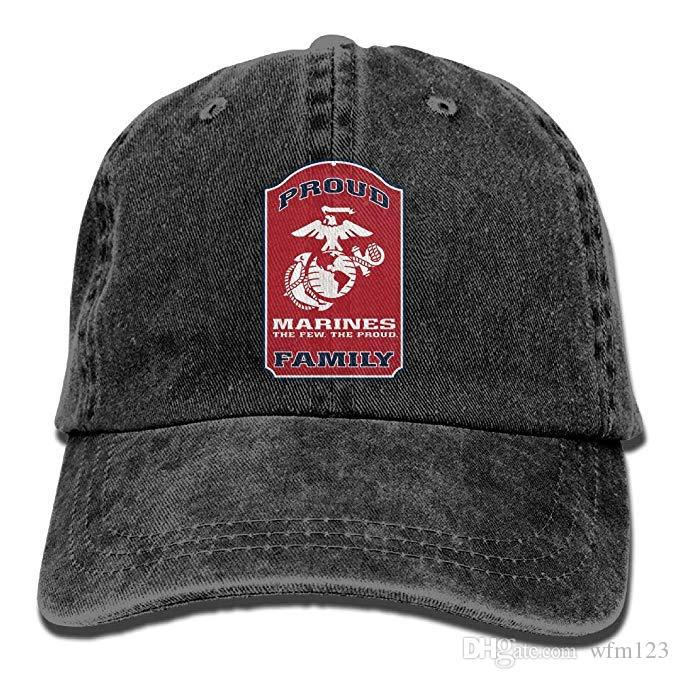 5878434163c2f 2019 New Custom Baseball Caps Proud Marine Family Mens Cotton Adjustable  Washed Twill Baseball Cap Hat Flexfit Caps Cap Store From Wfm123