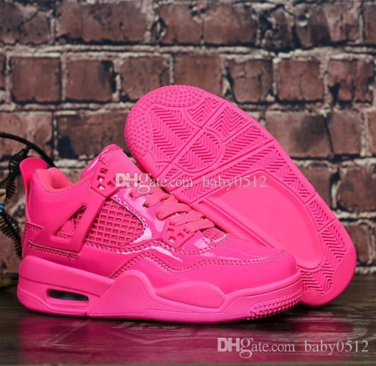 68b9d48d102128 Cheap New Original 4 Kids Basketball Shoes For Boys Girls Pink Sneakers  Children Baby 4s Running Shoe Size 11C 3Y Sport Shoes For Girl Tennis Shoe For  Kids ...