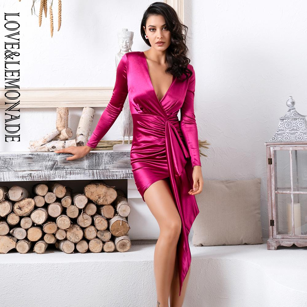 3a7b63f99 Love Amp Lemonade Sexy V Neck Shirring Streamer Decoration Bodycon Party  Dress LM81639 RED Dresses For Juniors White Cocktail Dresses From  Liuyangfuzhuang