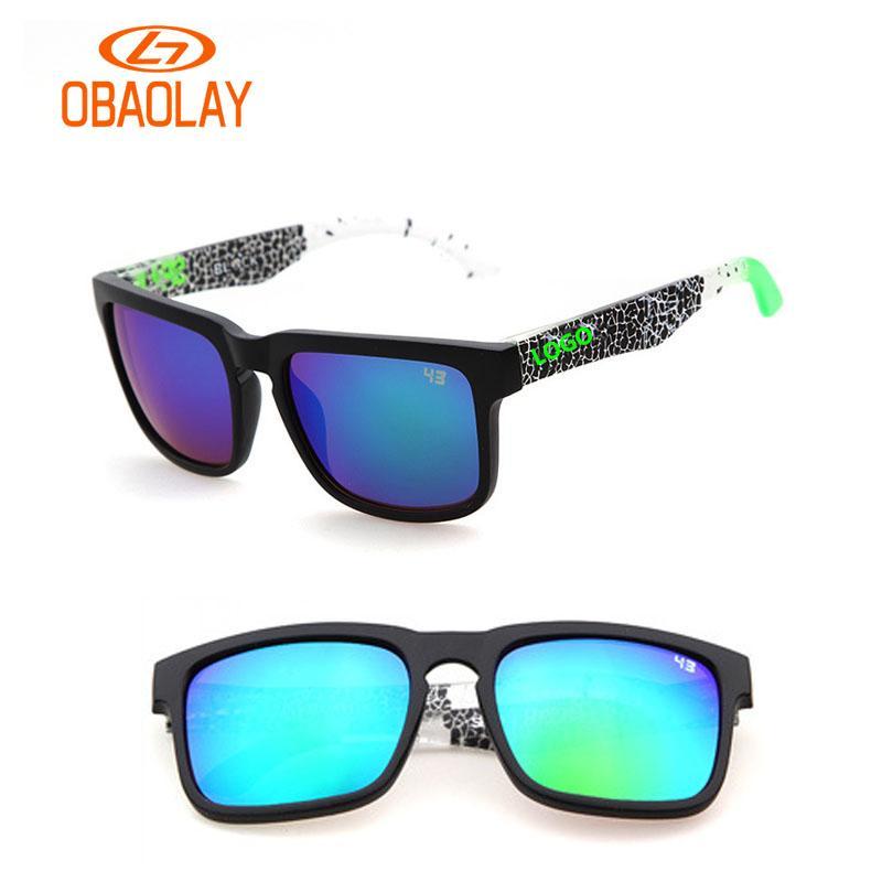 46a9a67d4f Compre Reparto Estupendo Marca Obaol Ken Block Gafas De Sol Personalizadas  Logotipo Hombres Deportes Gafas De Sol UV400 Masculino Rock Gafas De Sol A  $34.51 ...