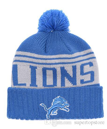 2019 NEW Striped Sideline Design Lions Sport Cuffed Knit Hat Wool Bonnet  Warm Cheap Beanies Hip Hop Knitted Skull Caps For Men Women From  Supertopstore 7765bdcca48