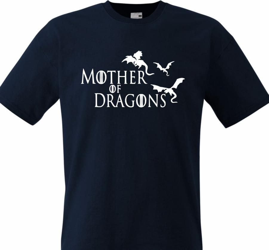 06680a50d MOTHER OF DRAGONS T SHIRT GIRLS MEN GAME OF THRONES KHALEESI Tee 100%  Cotton Fun Funny Unisex Casual Tee T Shirts Tees T Shirt From Cheznobody,  ...