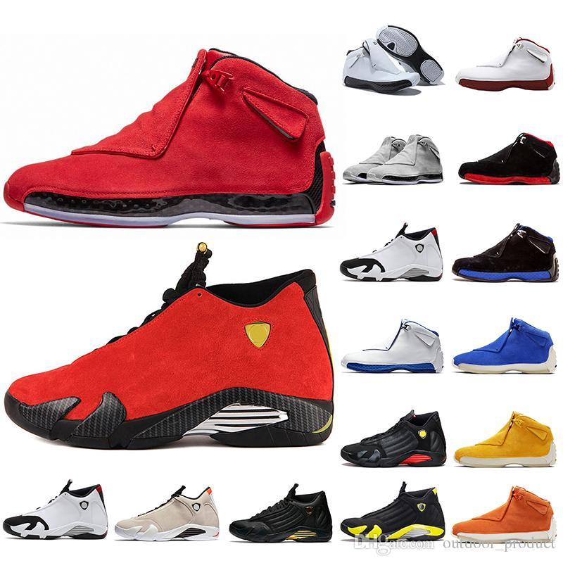 nike air jordan jumpman Luxus Wildleder Jumpman 14s 18s Herren Basketball Schuhe Schwarz Weiß Rot Toro OG ASG Schwarz Royal DMP Thunder Designer