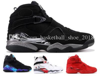 36f2d848a55 Man 8 8s Basketball Shoes Sneakers Chrome Vday Valentines Day Aqua ...