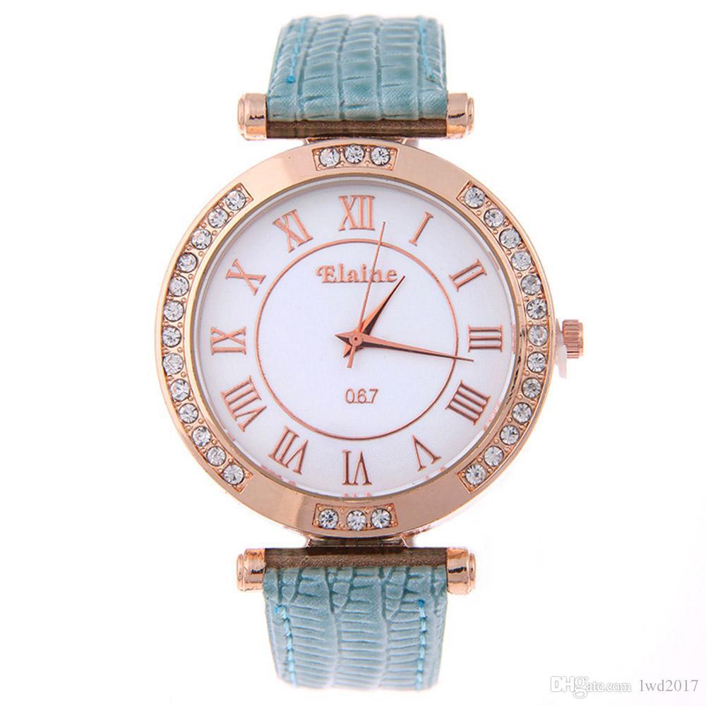6104ce12165 Compre Marca De Lujo De Cuero Reloj De Cuarzo Mujeres Hombres Señoras De Moda  Reloj De Pulsera Relojes De Pulsera Relogio Feminino Vestido Reloj De  Pulsera ...