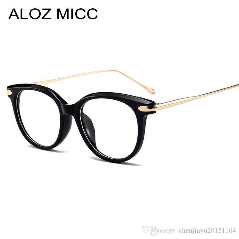 92ae20222 Compre ALOZ MICC Mulheres Óculos De Armação Acetato Olho De Gato De Alta  Qualidade Moda Feminina Elegante Óculos Femininos Prescrição Óptica Óculos  A122 De ...