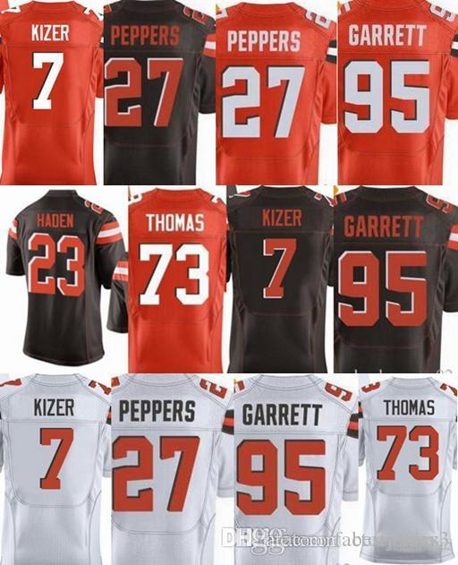 Cheap New Mens Cleveland Brown Jersey  73 Joe Thomas 95 Myles Garrett 23  Joe Haden 27 Jabrill Peppers 7 DeShone Kizer Jerseys be23d04ec