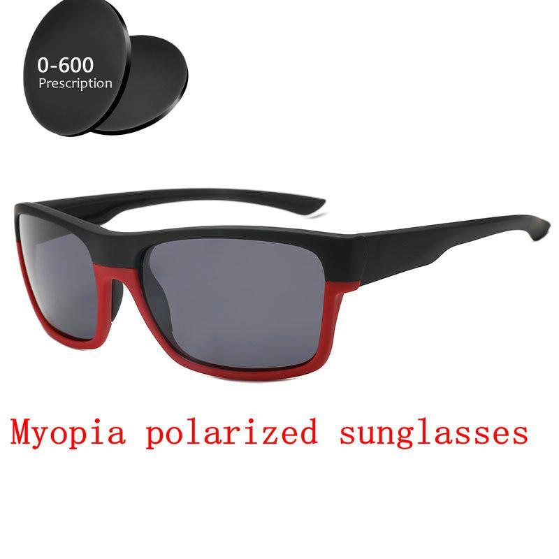c8c6f01ba2 2019 Men Women Custom Made Myopia Minus Prescription Polarized Lens Retro  Double Beam Square Sunglasses Driving Goggles UV FML Glass Frames Online ...