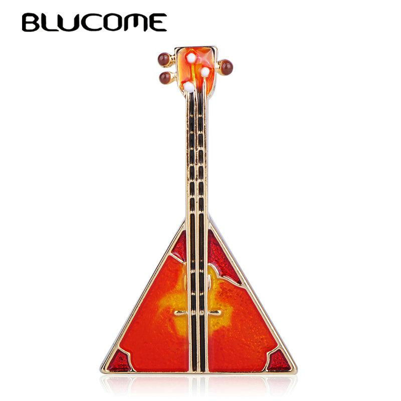 0463fb13f5c 2019 Brooches Blucome Creative Musical Triangle Guitar Shape Brooch Enamel  Gold Color Jewelry Women Girl Apparel Scarf Hat Bag Pin Accessories From  Yan234, ...