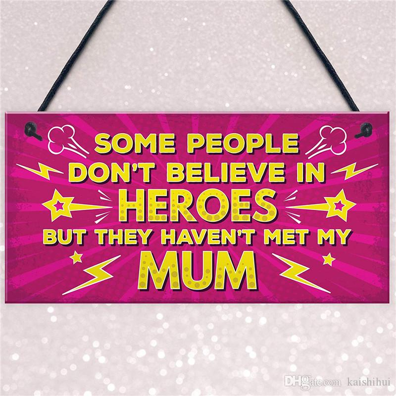 Mum Gift From Daughter Son Hanging Plaque Christmas Birthday For Mummy Mother Decor Home Furniture Homes Kaishihui 1528