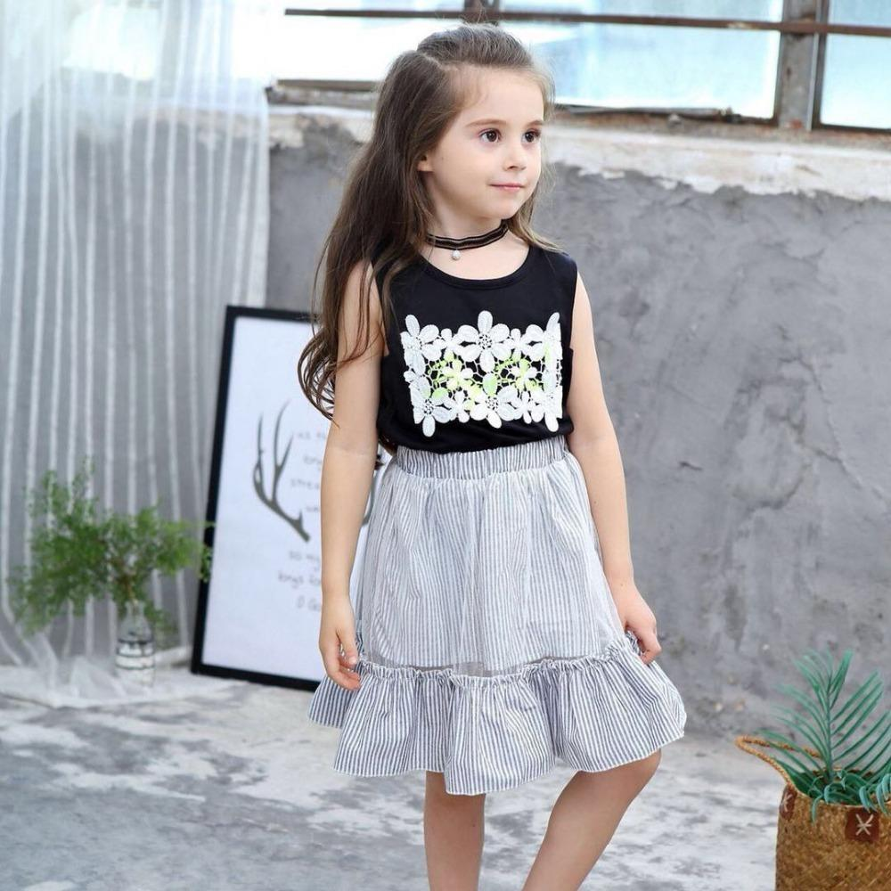 0477ab73abd8 2019 Baby Girl Dress 2019 Summer Lace Flower Print Beautiful Clothes ...