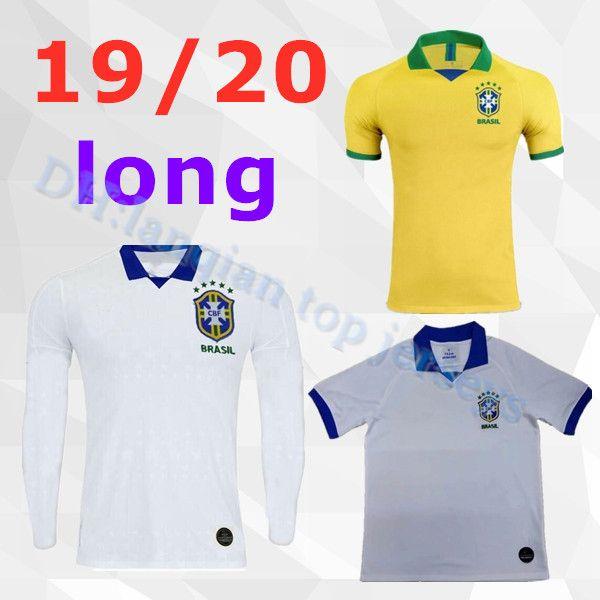 best football kits 2020-19 2019 20 Brasil Soccer Jerseys Men Long Brazil Jersey 2019 2020