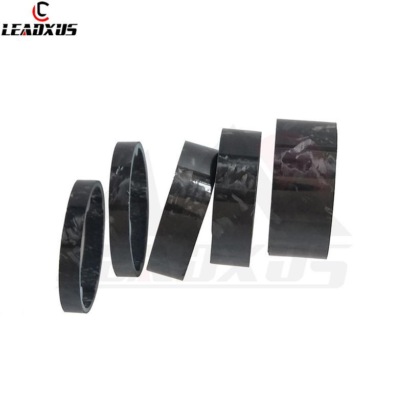 5pcs Bike Headset Spacer Bicycle Cycling Fork Stem Headset Spacer Carbon Fiber