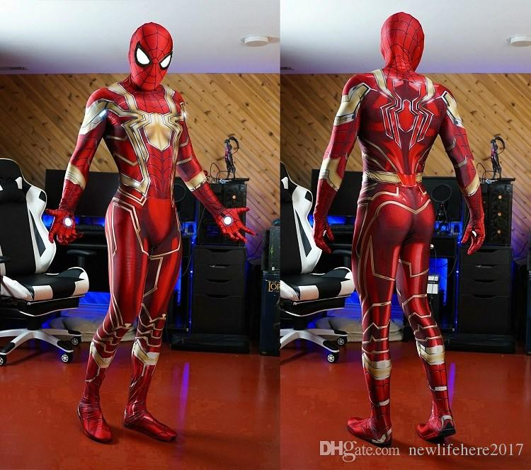 2020 Avengers 3 Infinity War Iron Spiderman Costume 3D