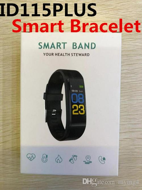 ID115Plus Smart Bracelet Bluetooth Waterproof Yoho Sports Heart Rate  Monitoring Blood Pressure&Oxygen Watch Pedometer Activity Band 100 Pack