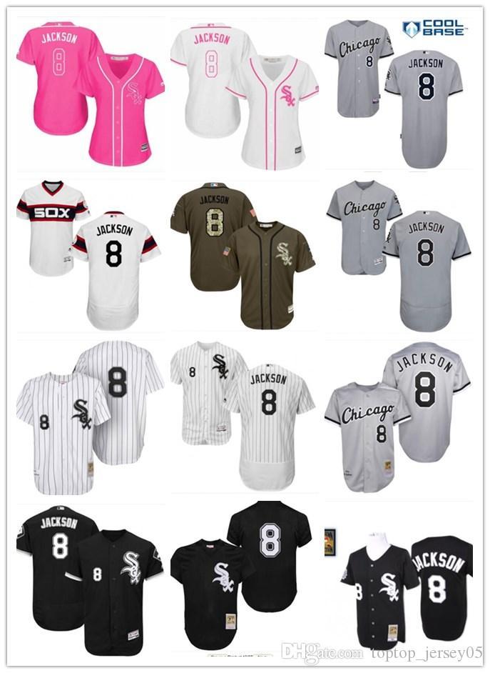 6e0eb40af1d 2019 2018 Top Chicago White Sox Jerseys  8 Bo Jackson Jerseys Men WOMEN  YOUTH Men S Baseball Jersey Majestic Stitched Professional Sportswear From  ...