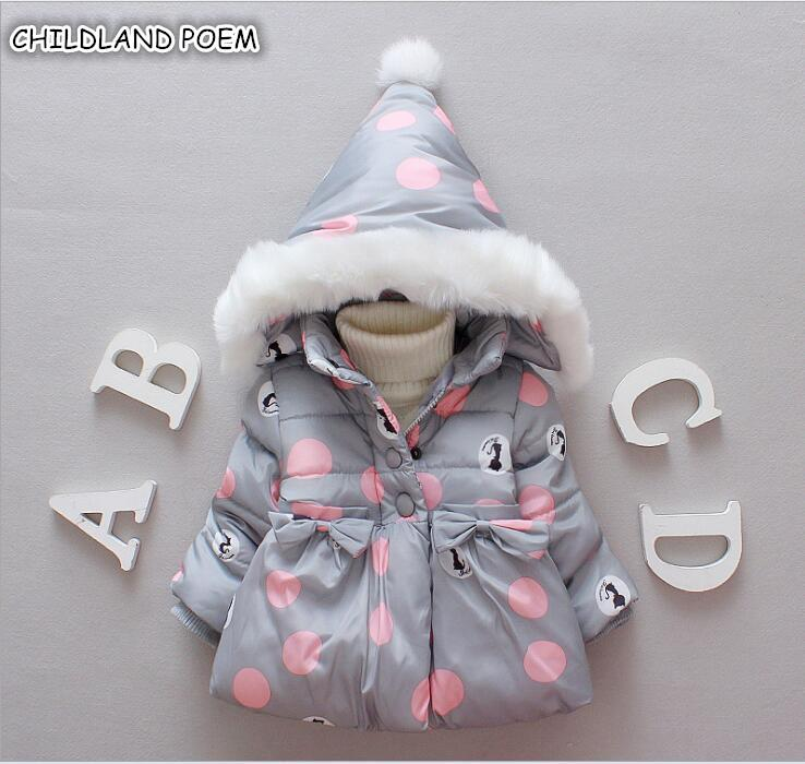 Winter Baby Jackets Hooded Warm Toddler Baby Girls Outerwear Faux Fur Girls Clothing Infant Outfits Clothes