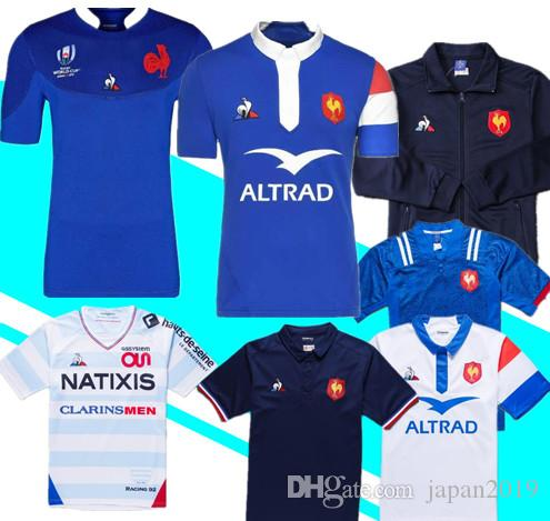buy online 1d263 eecd4 2019 France Rugby World Cup Jerseys 18 19 France Shirts Rugby Maillot de  Foot French BOLN Rugby shirt