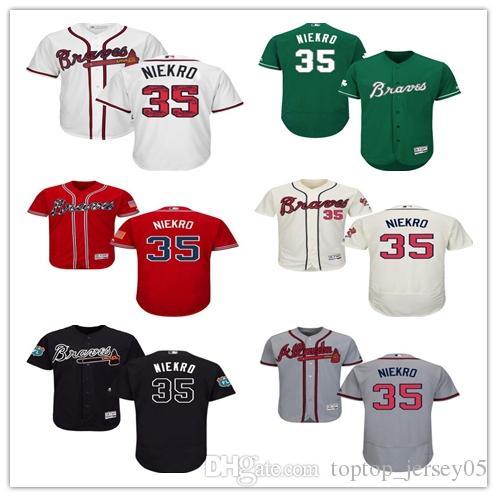 promo code 17fde 29af4 2018 can Atlanta Braves Jerseys #35 Phil Niekro Jerseys  men#WOMEN#YOUTH#Men's Baseball Jersey Majestic Stitched Professional  sportswear