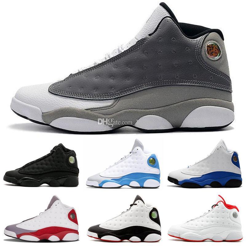 sports shoes e3fa4 da4db 2019 Jumpman 13 He Got Game mens kids basketball shoes Phantom black cat  Chicago bred Hyper