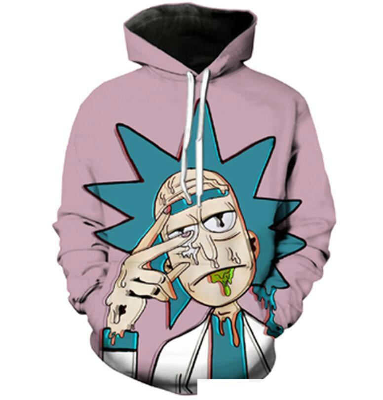 Classic Unisex New Fashion Couples Men Women Cartoon Scientist Rick And Morty 3D Print Hoodies Sweater Sweatshirt Jacket Pullover Top S-5XL