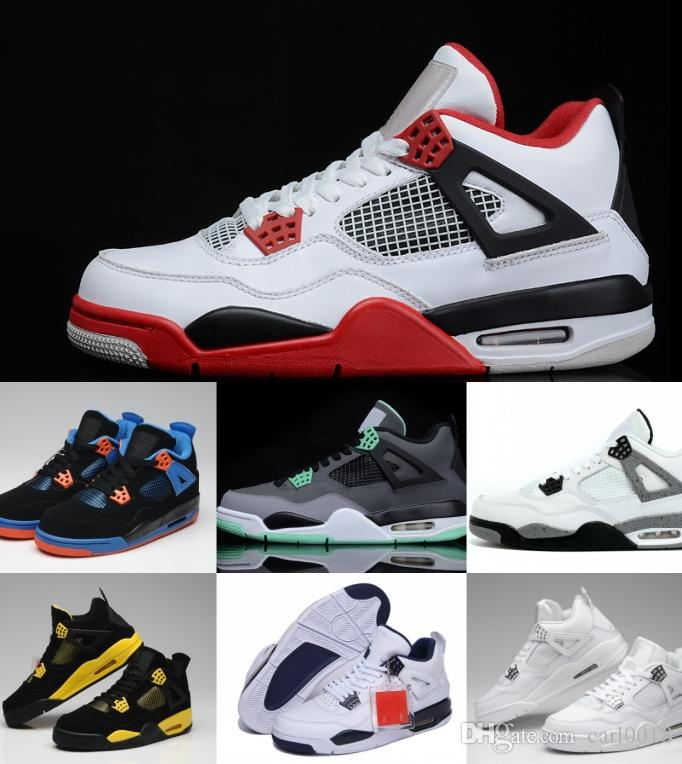 65fc87f704bb 2019 2019 Hot Outdoor With Box Wholesale 4 White Cement Bred Fire Red IV 4s  Men Women Basketball Shoes Sneakers Sports Trainers SIZE 36 47 From  Carl0018