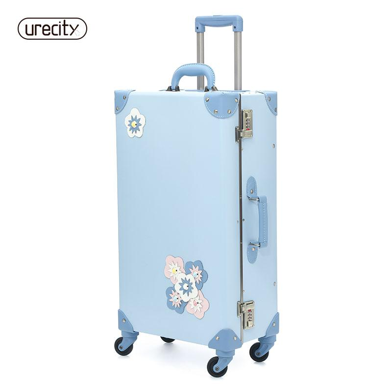 c81e21269 2018 NEW Travel Suitcase Spinner Luggage Rolling Floral Flower ...