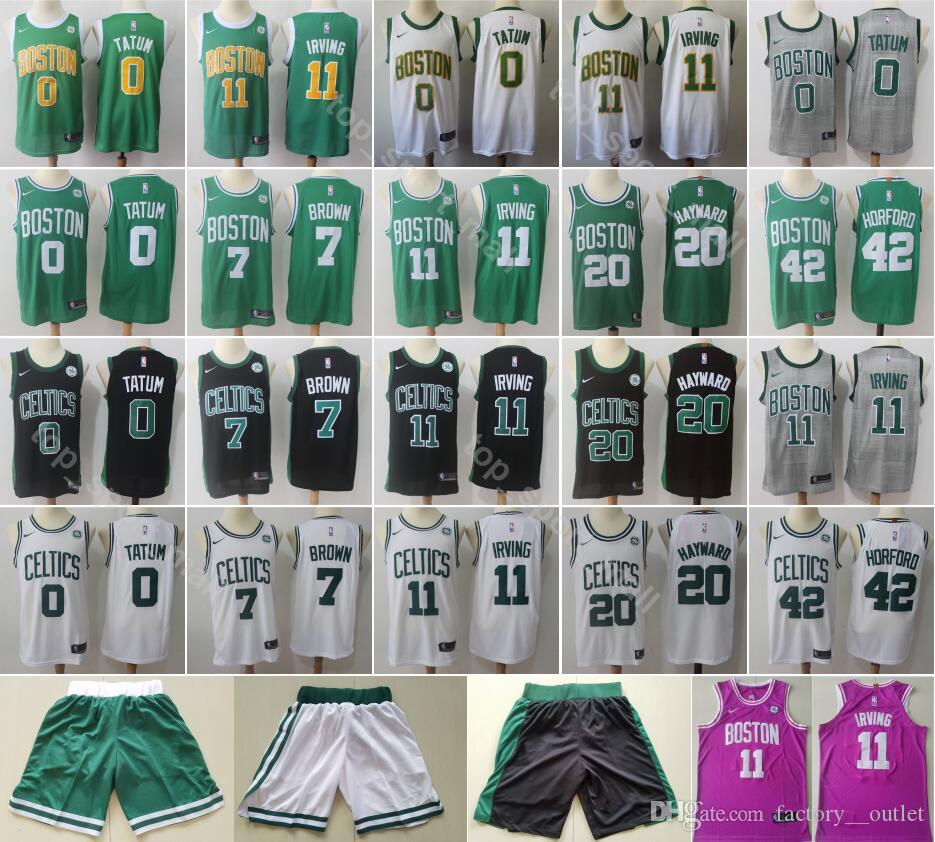 quality design 688b3 48ced 2019 City Earned Edition Kyrie Irving Jersey 11 Boston Basketball Jaylen 7  Brown Jayson 0 Tatum Gordon 20 Hayward Al 42 Horford