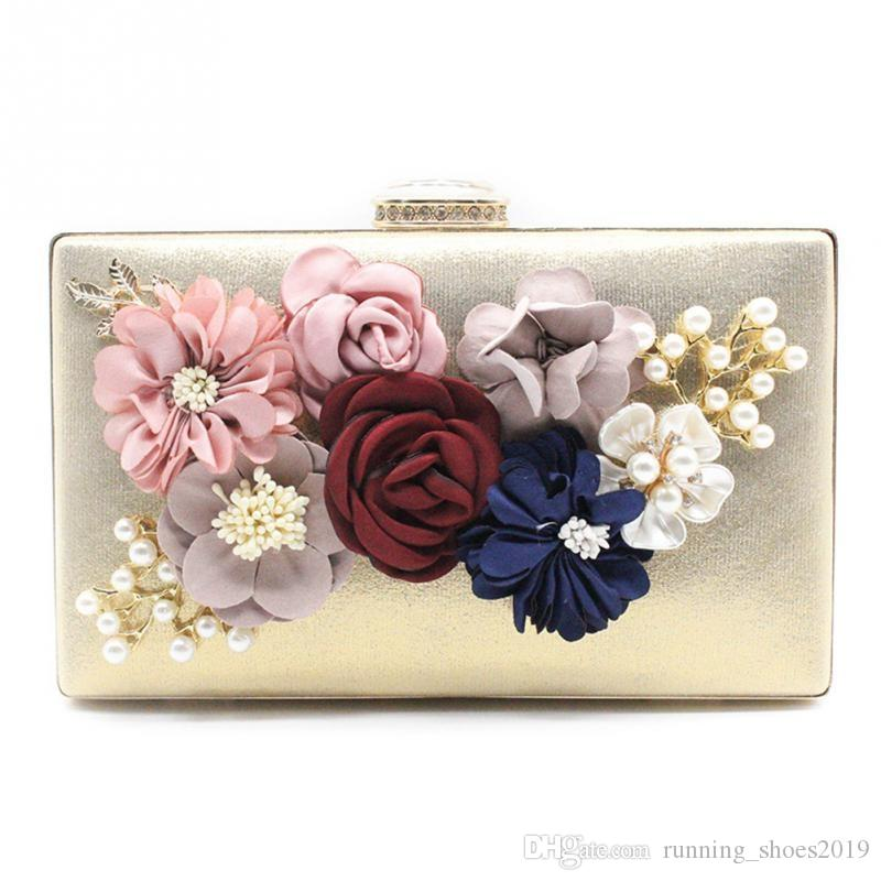 3a924eca164 2018 New Women Clutch Bag Ladies Flower Evening Bags Party Day Clutches  Purses Female Pink Gold Black Red Blue Wedding Bag #92698 Black Handbag  Black Clutch ...