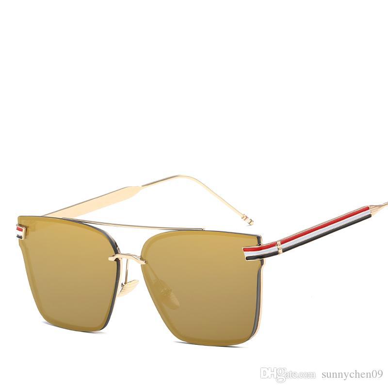 53a8c72c12 Compre Nuevo Diseñador De Moda Gafas De Sol Para Hombre Aviación Conducir  Pantallas Mujer Gafas De Sol Cuadrados Retro Vintage Gafas De Sol  Polarizadas A ...