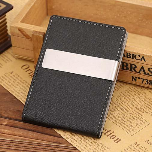 Venta al por mayor para hombre de cuero fino Slim Magic ID Holder Money Clip Wallet HOT