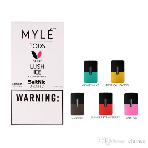 Disposable Myle Vape Pods 0 9ml Replacement Five Flavors Pod Cartridges For  Myle Pen Device Kit High Quality
